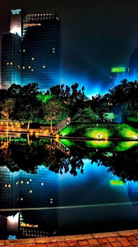 Neon light city