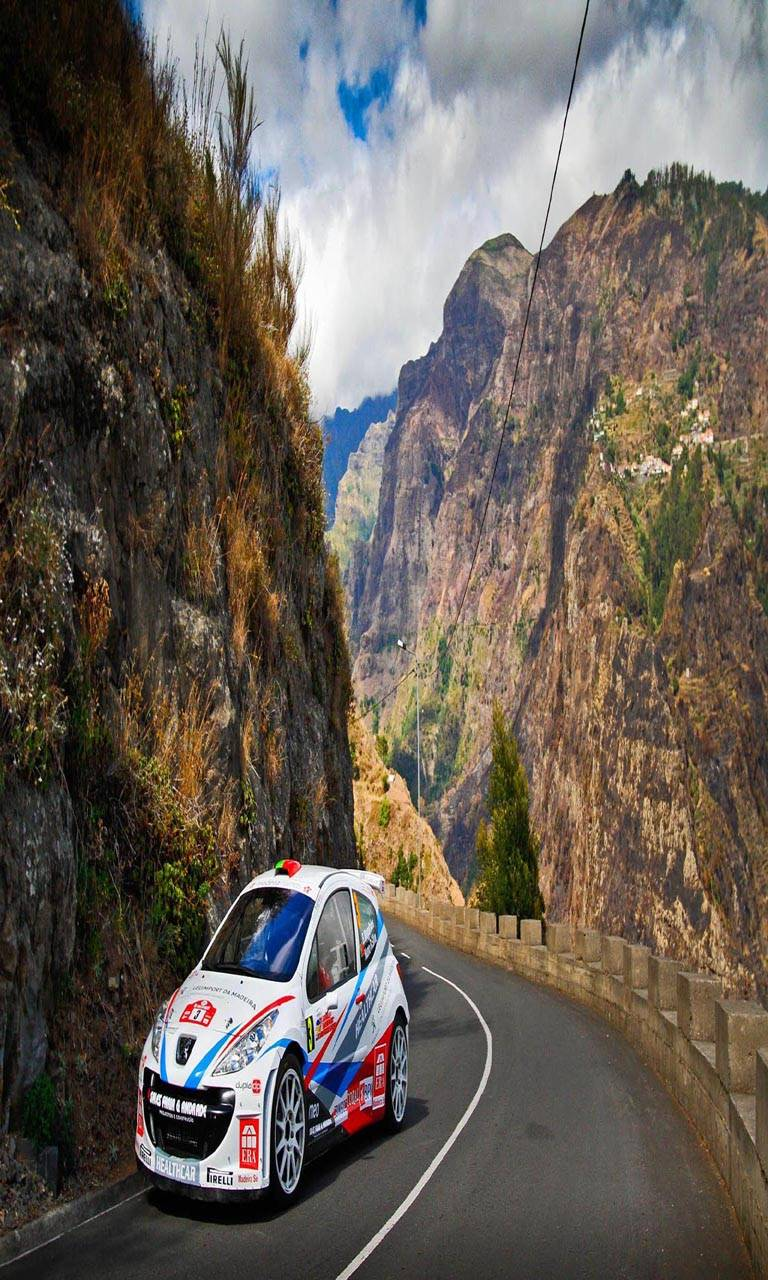 Rally car mountain