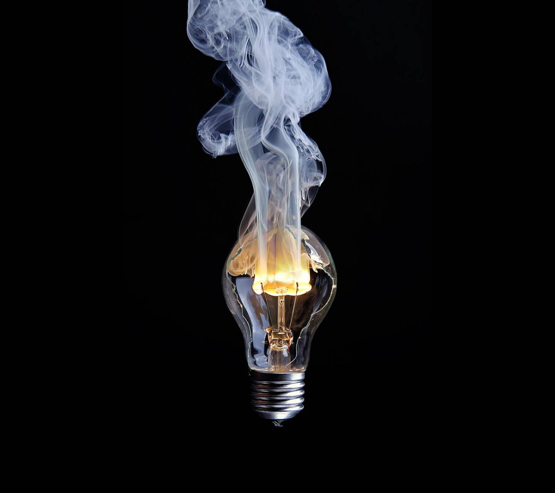 Broken Burning Lamp