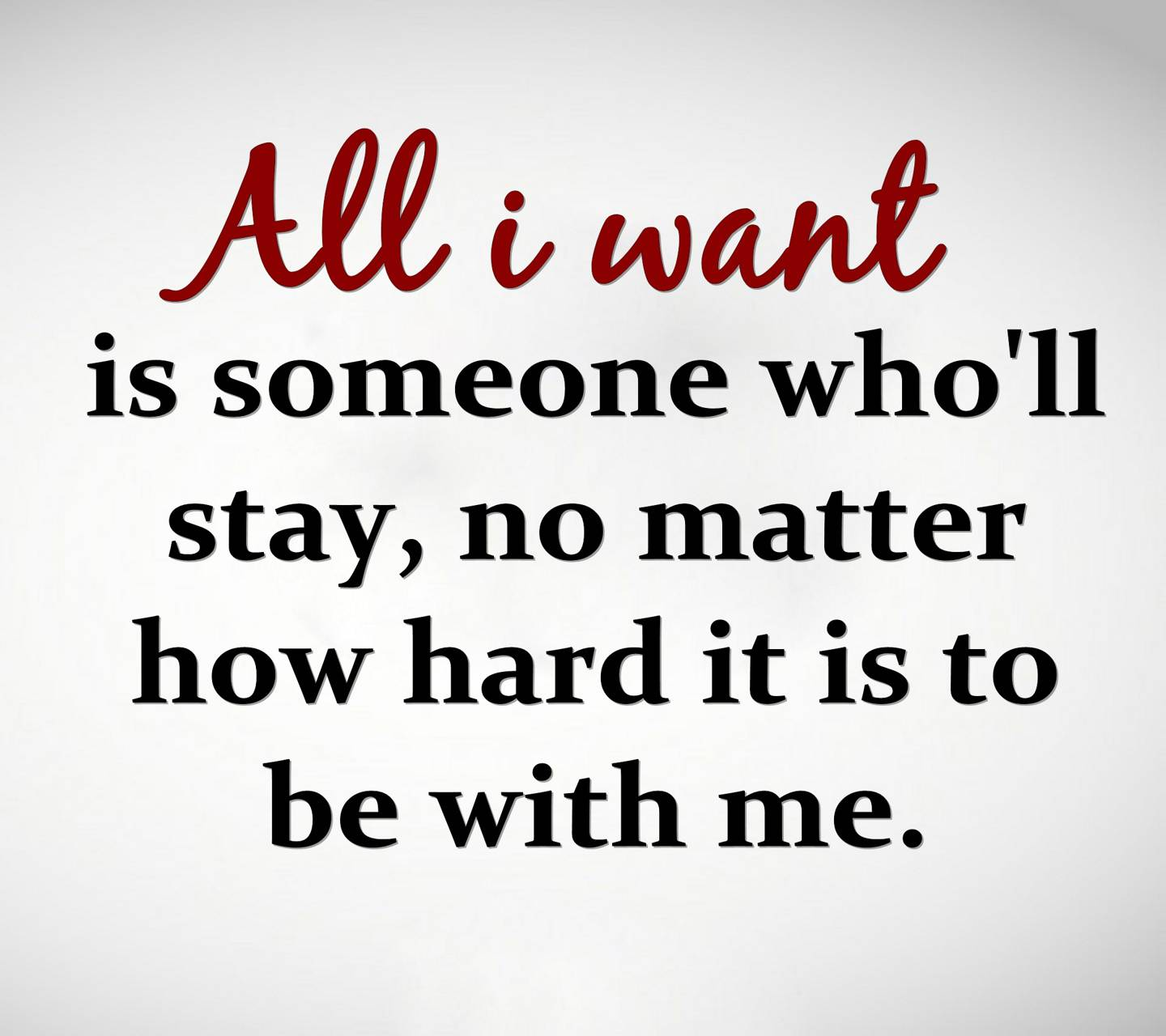 all i want