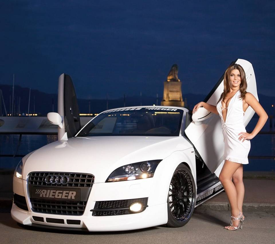 Hot Girl And Car