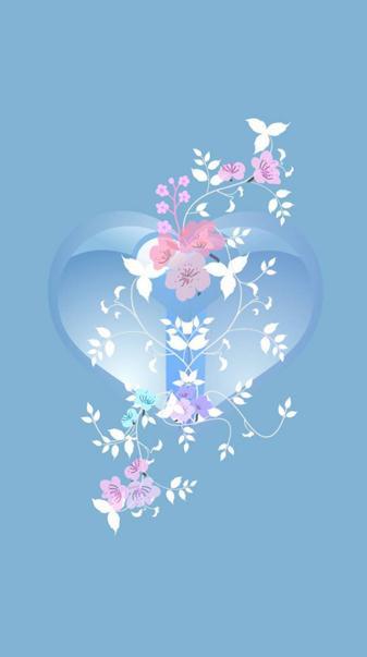 Blue heart flower