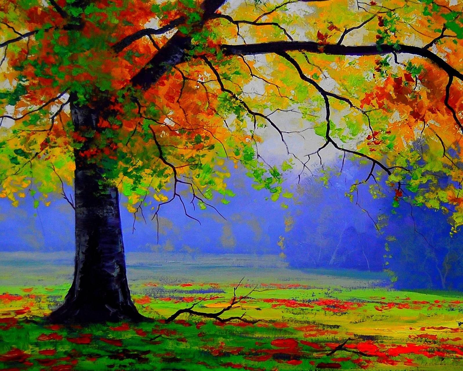 Painting Autumn Tree