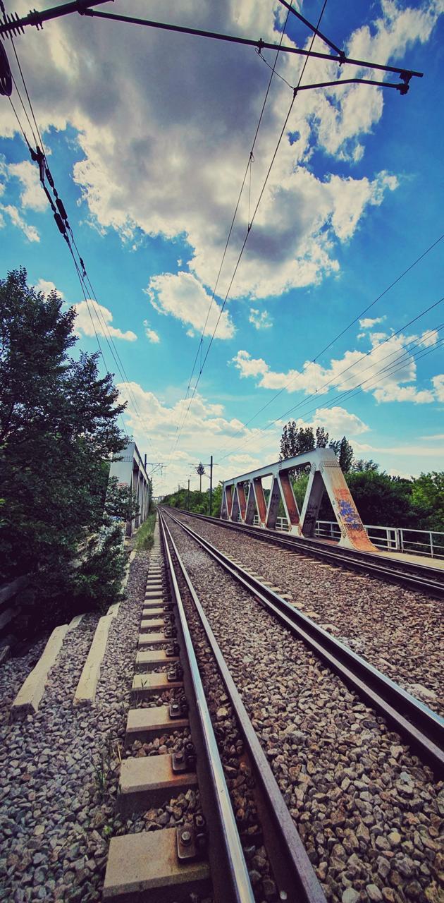 Rails to beach