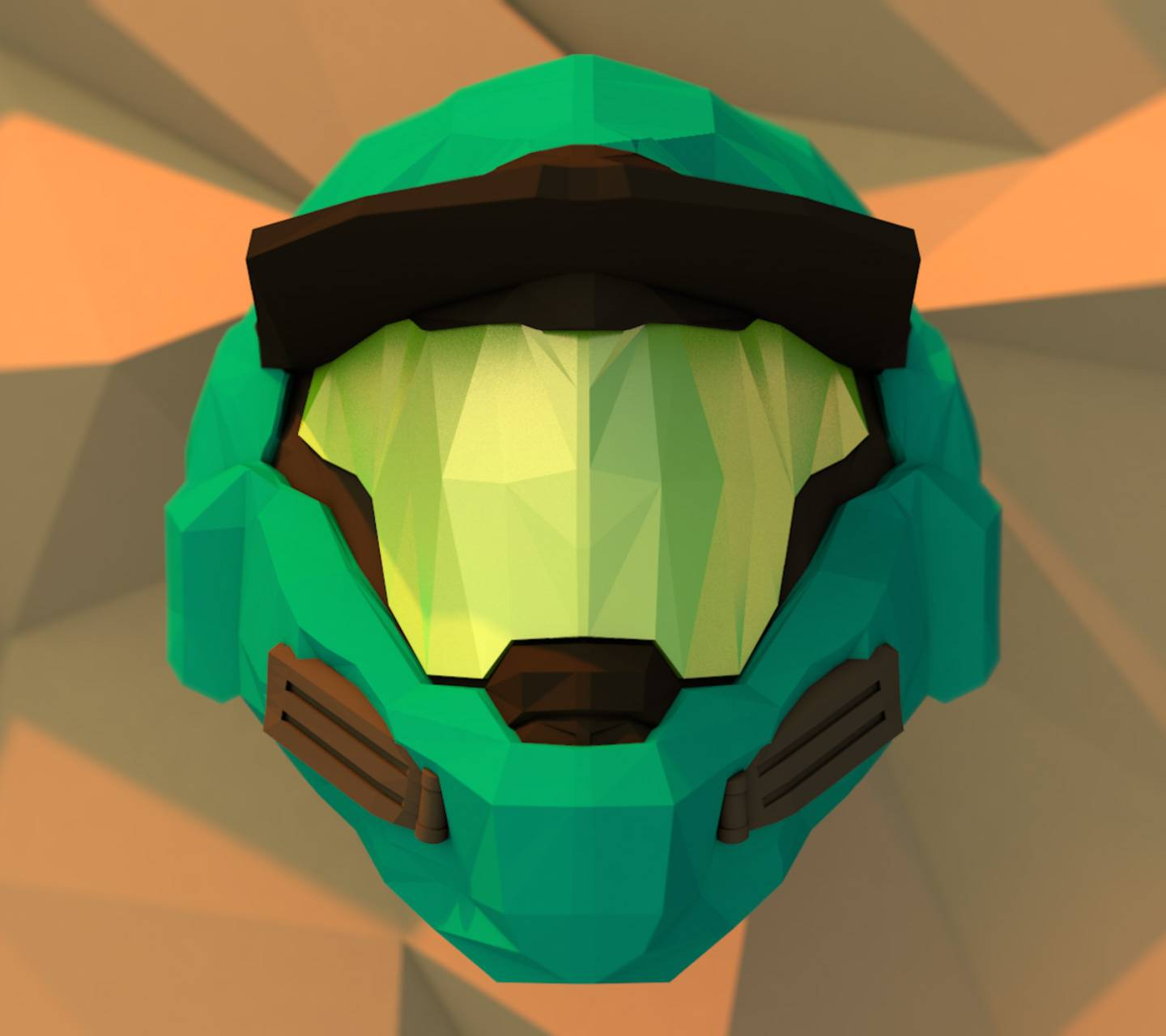 lowpoly Halo Helm