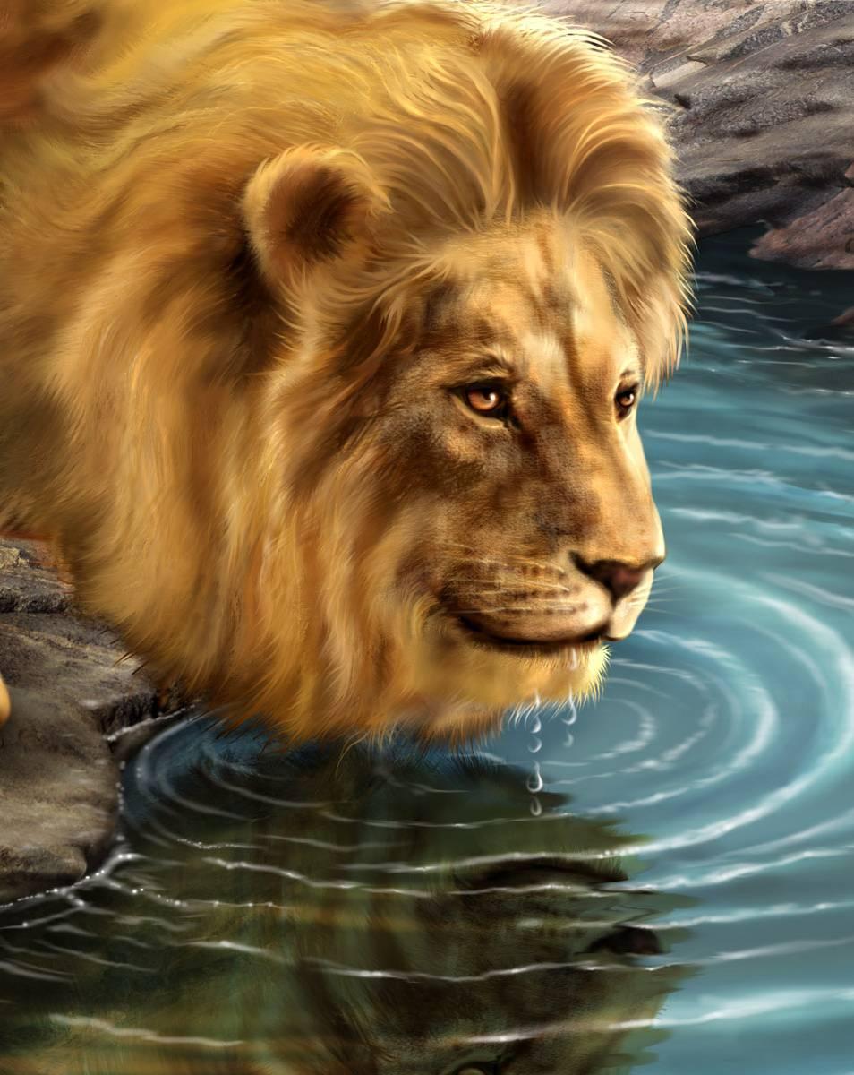 кафель двигающаяся открытка лев этих товаров