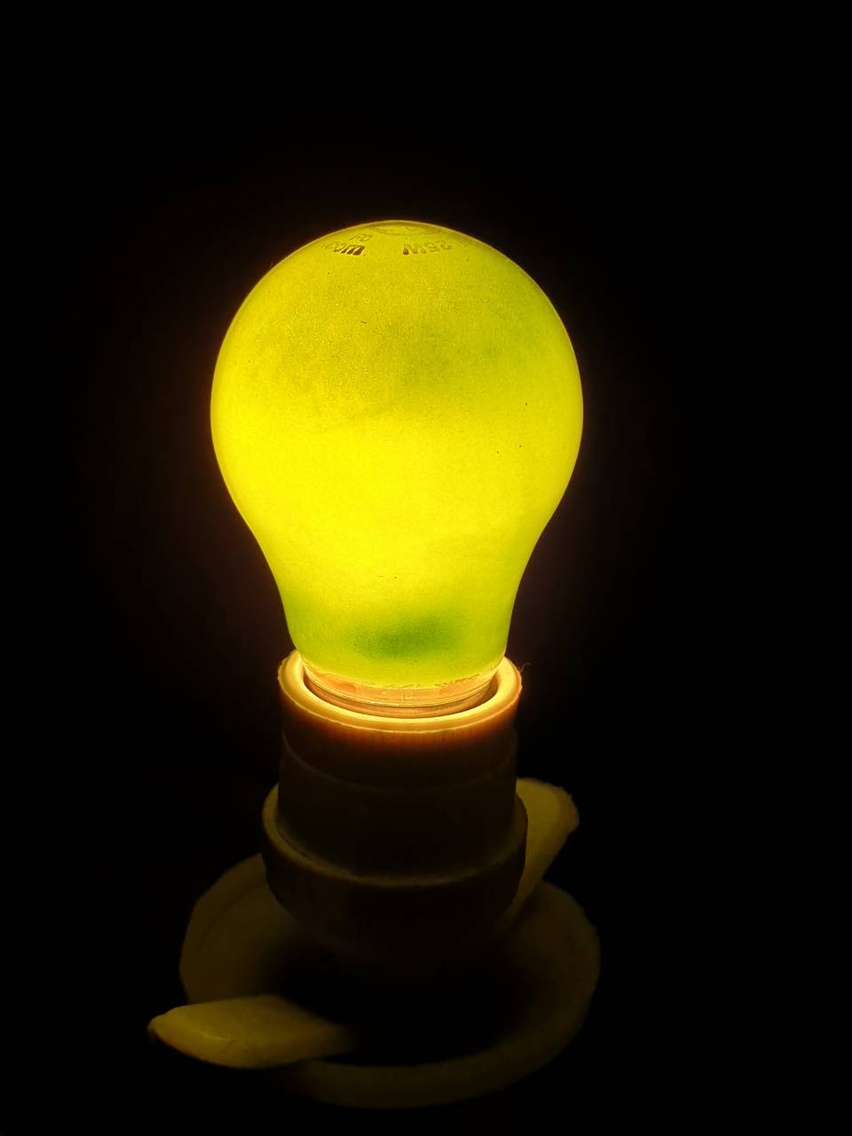 lightbulb greenish
