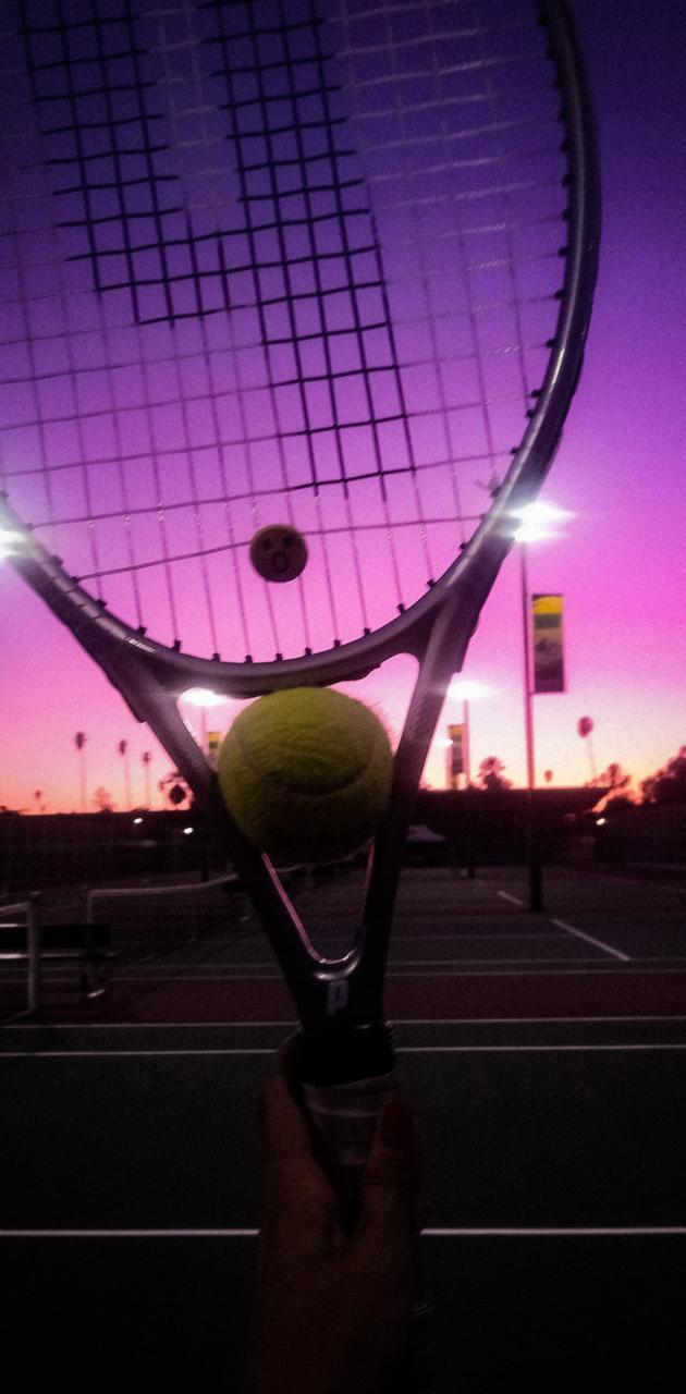 Tennis time sunset