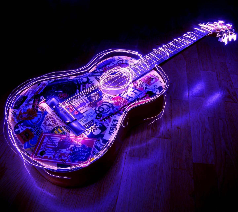 Neon guitar HD