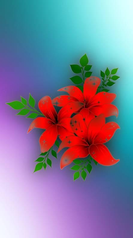 fleurs rouge 2