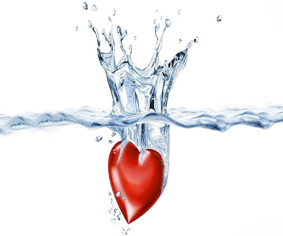 Картинки сердце воды