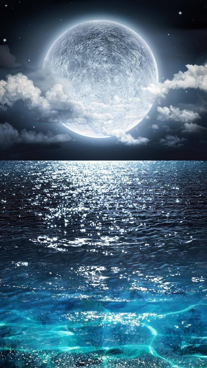 Moonset Ocean