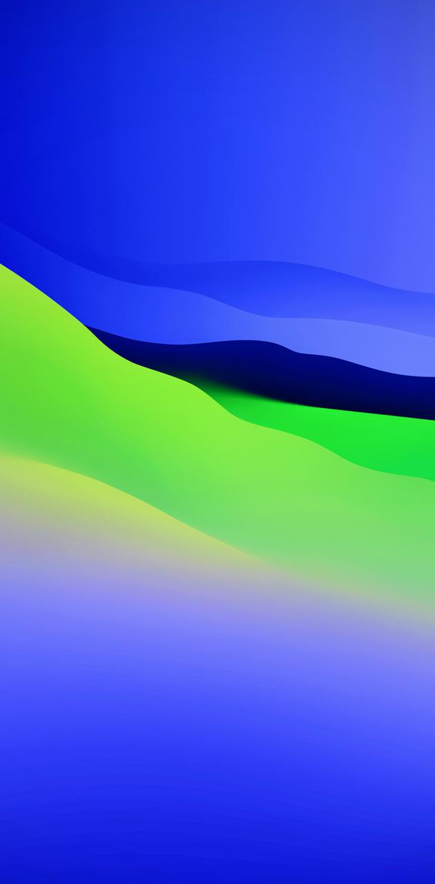 Blue And Green Waves