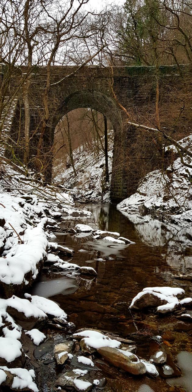Old Bridge snow
