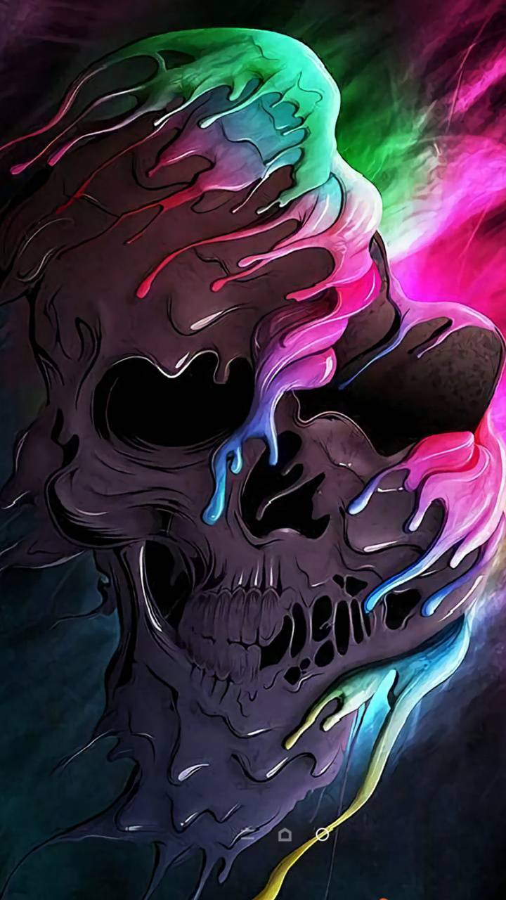 Colourful skull wallpaper by Lolawonder16 - 13 - Free on ...