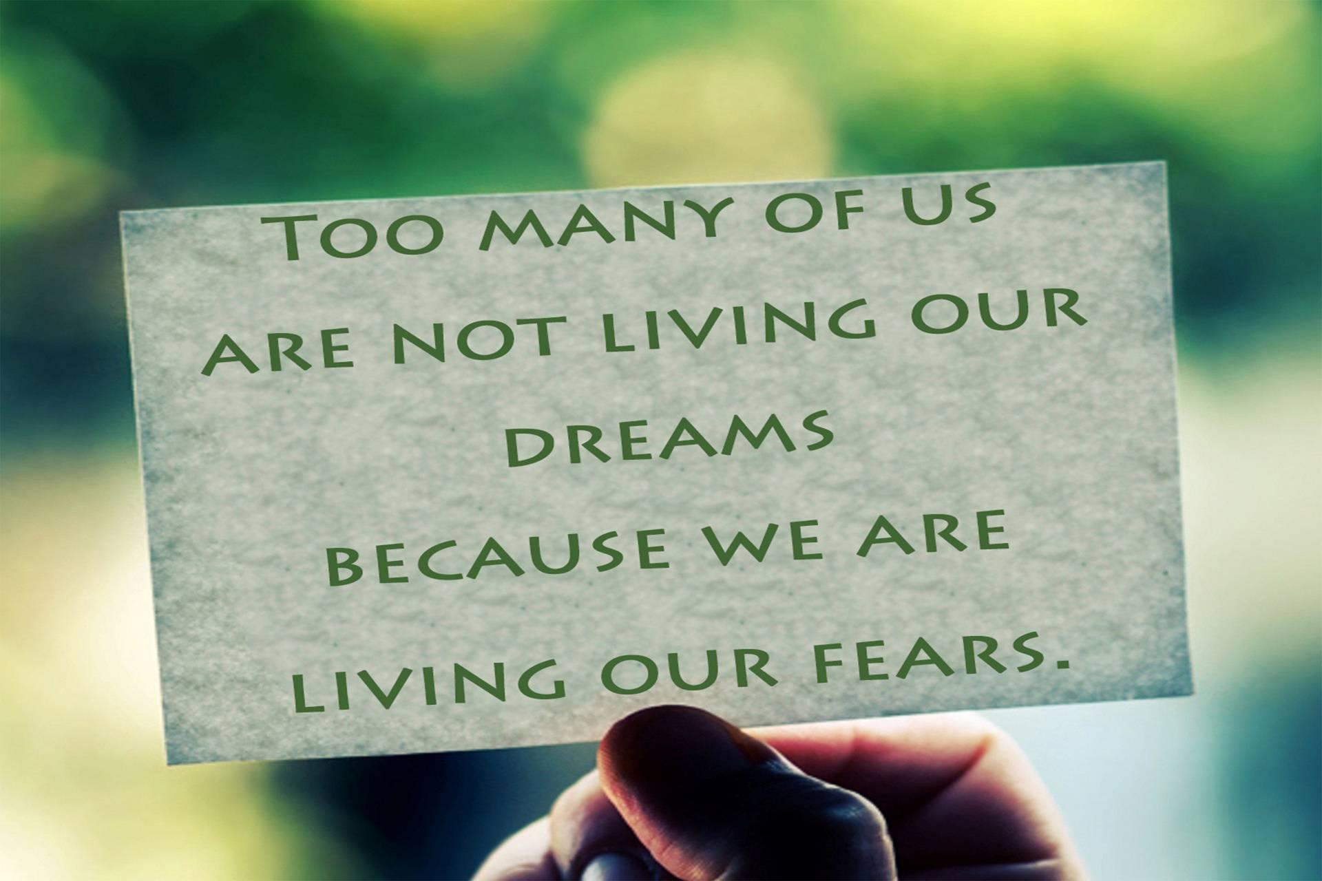 Living Drms Not Fear