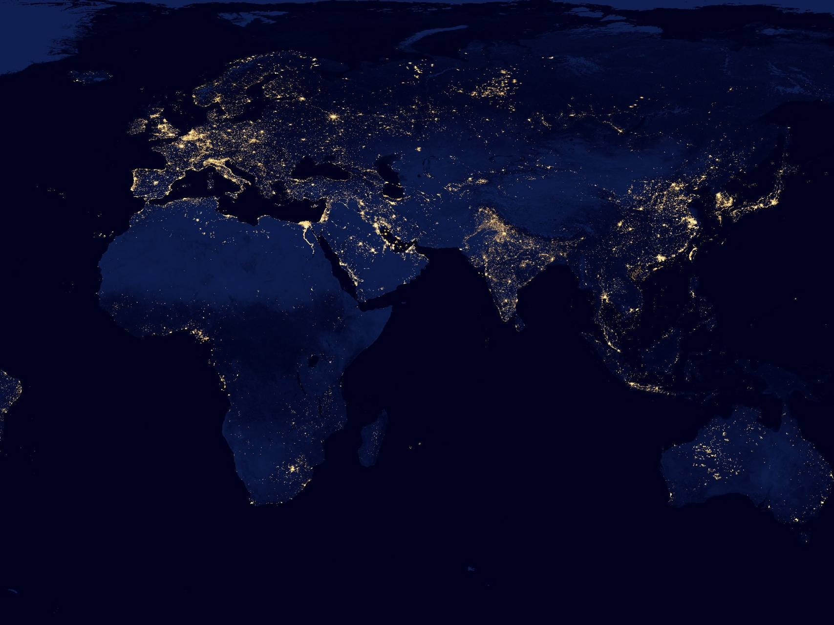 Earth In Night