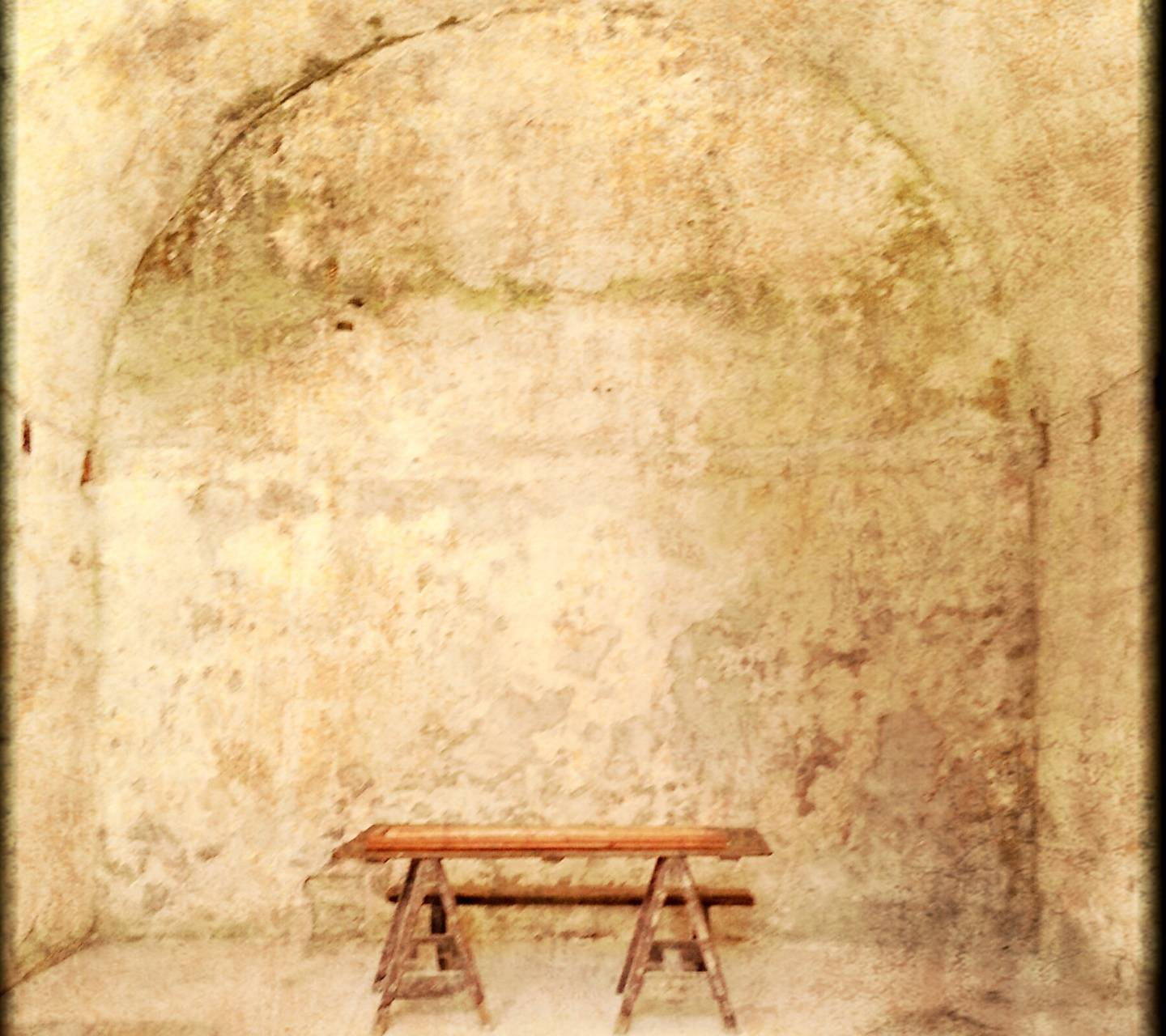 Bench by the Wall