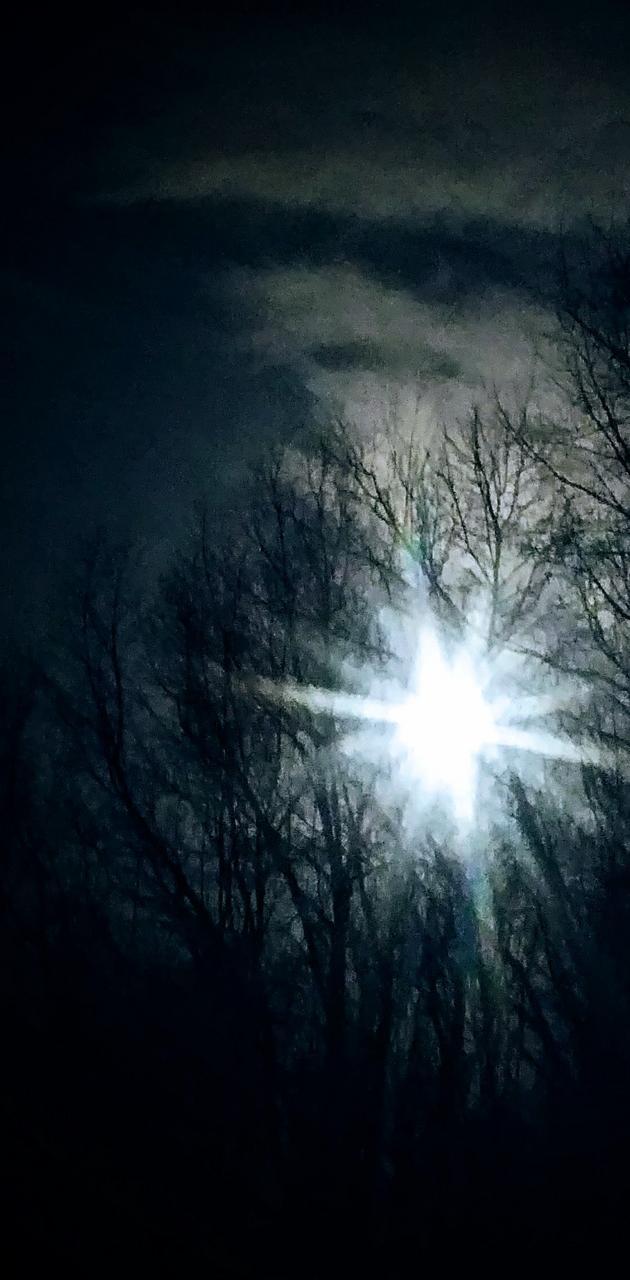Full moon filtered