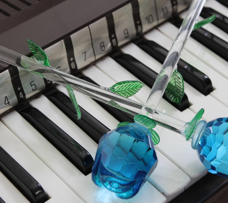 Blue Roses On Organ
