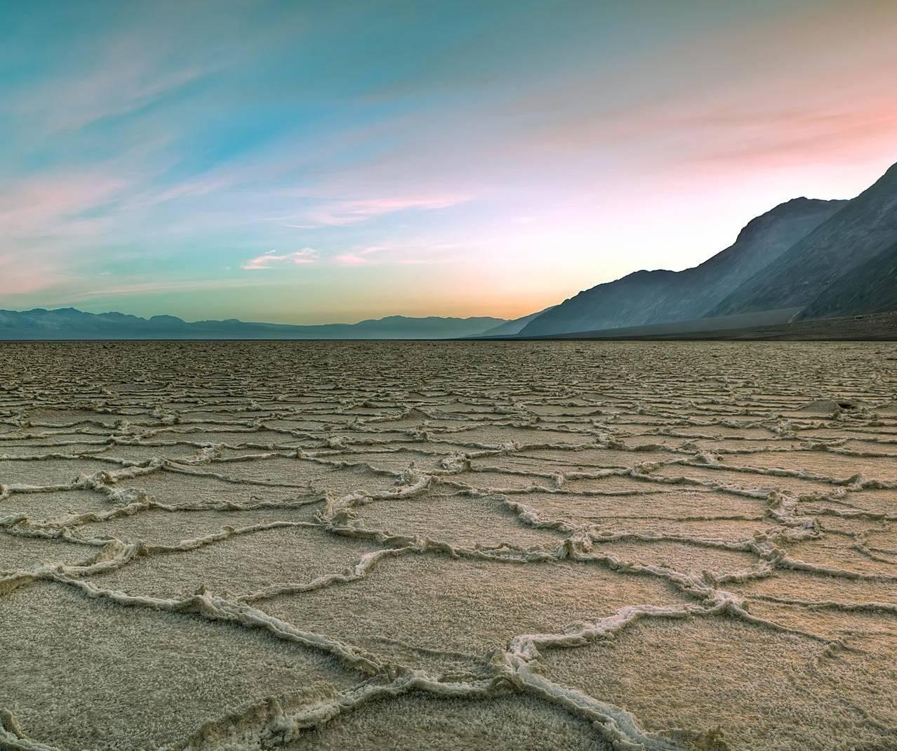 Dry Desert Sunset