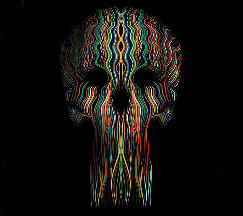 colorful skull backg