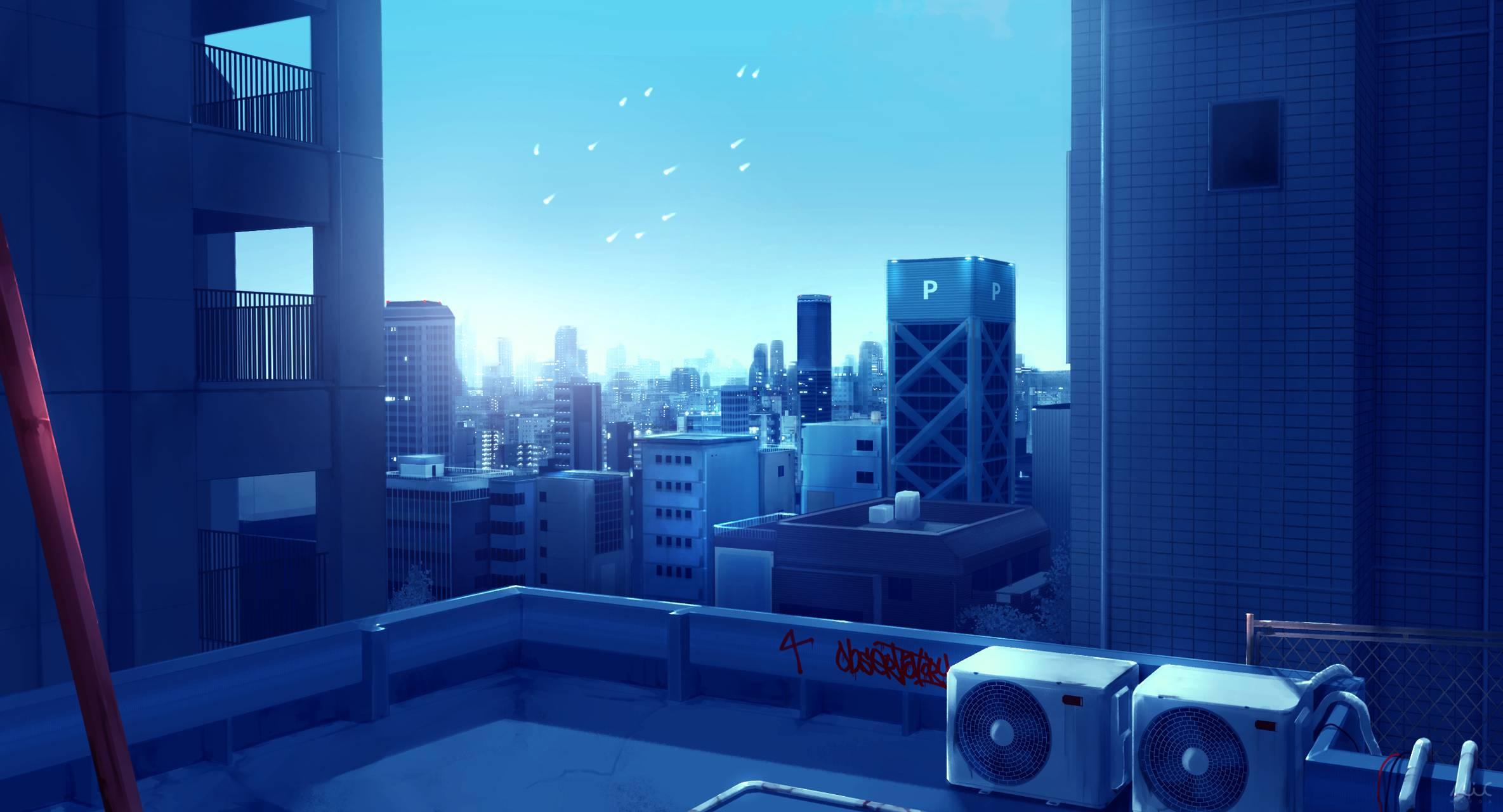 Anime City Scenery