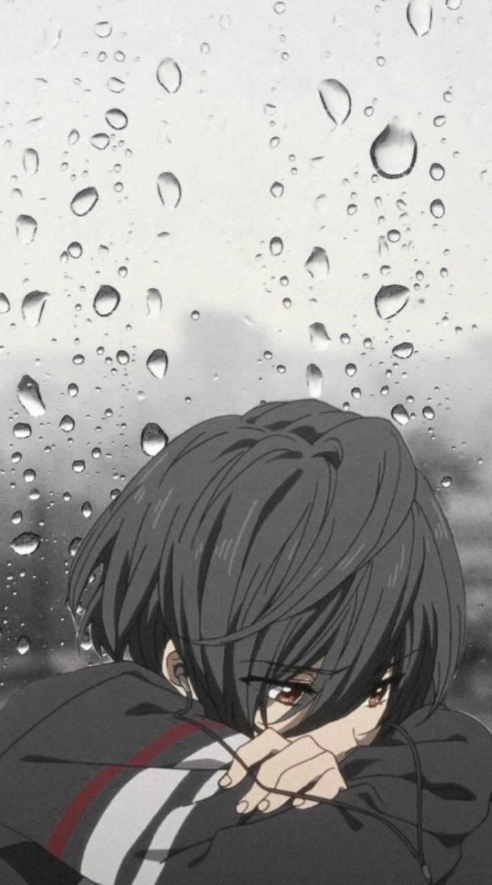 Lonely anime boy