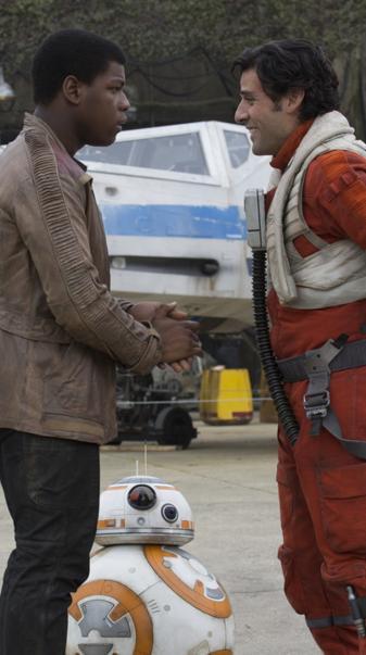 Finn BB8 and Poe