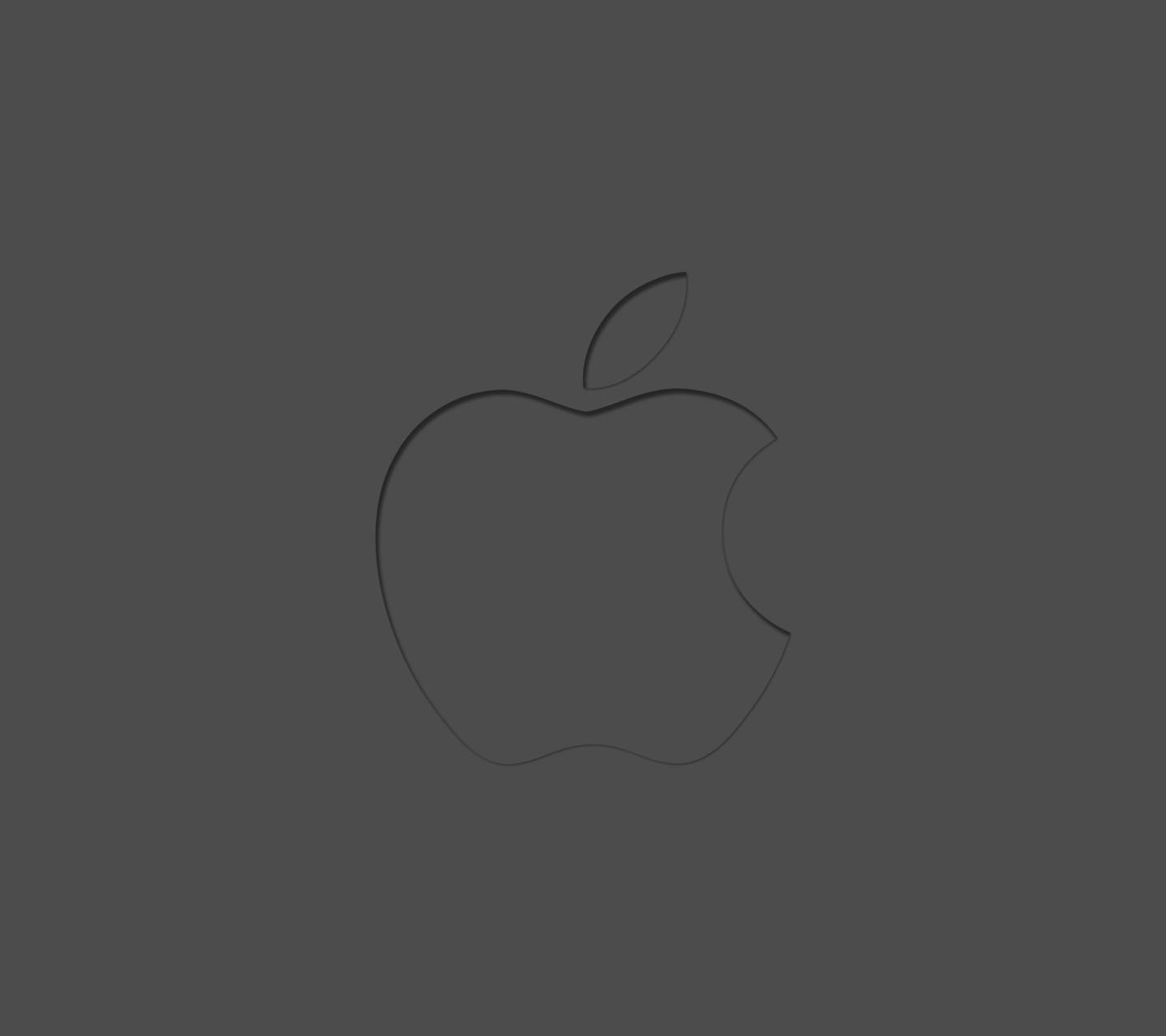 minimal apple logo