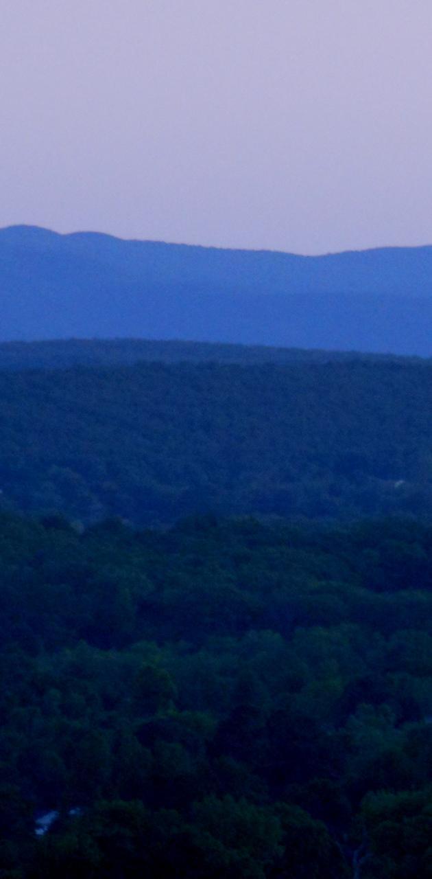 Hills at dusk