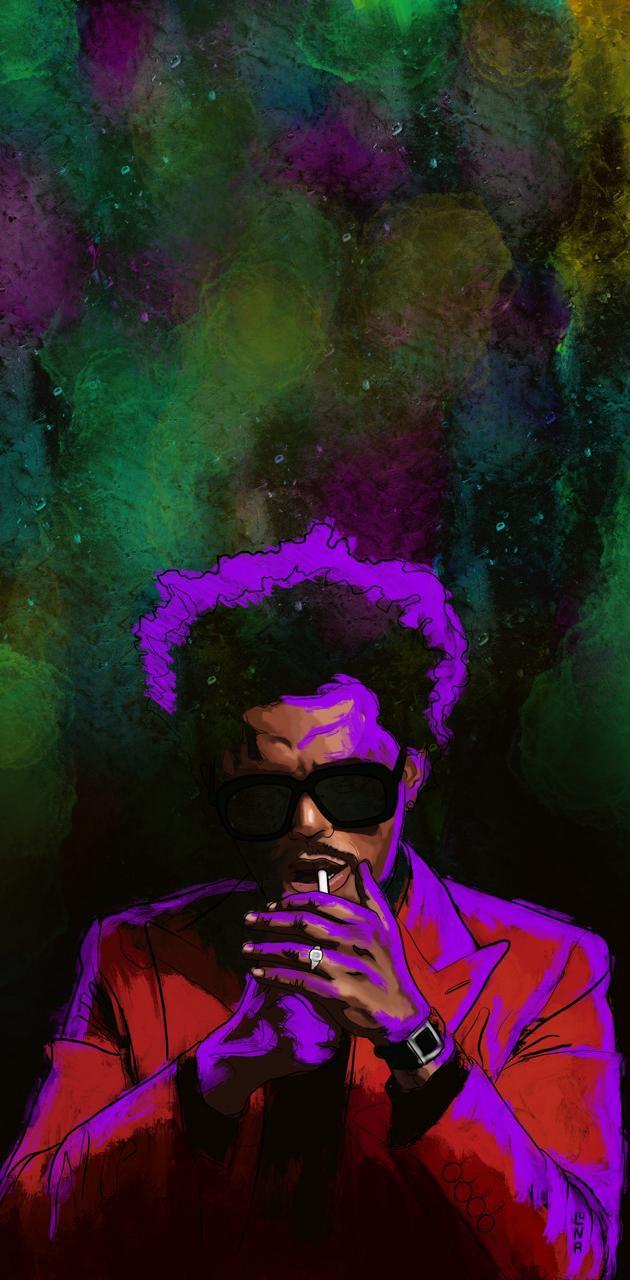 The Weeknd purple