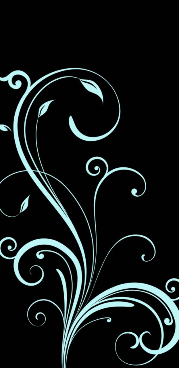 Teal swirls