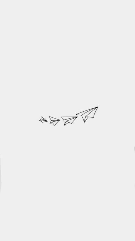 Paper airplane trail