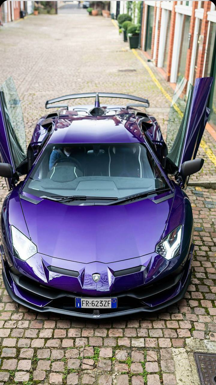 Purple Aventador SVJ