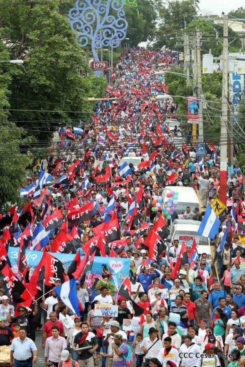 FSLN marcha