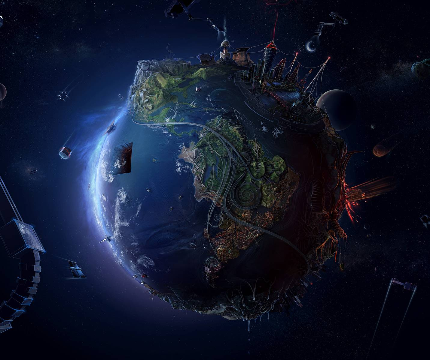 3d view of earth