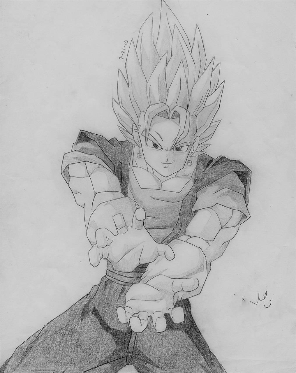 vegito drawing