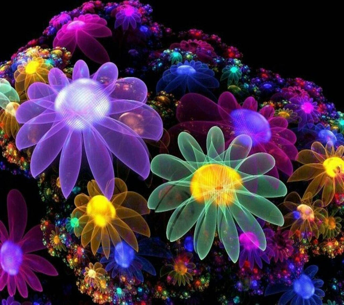 Neon Flower Wallpaper By CostasFe