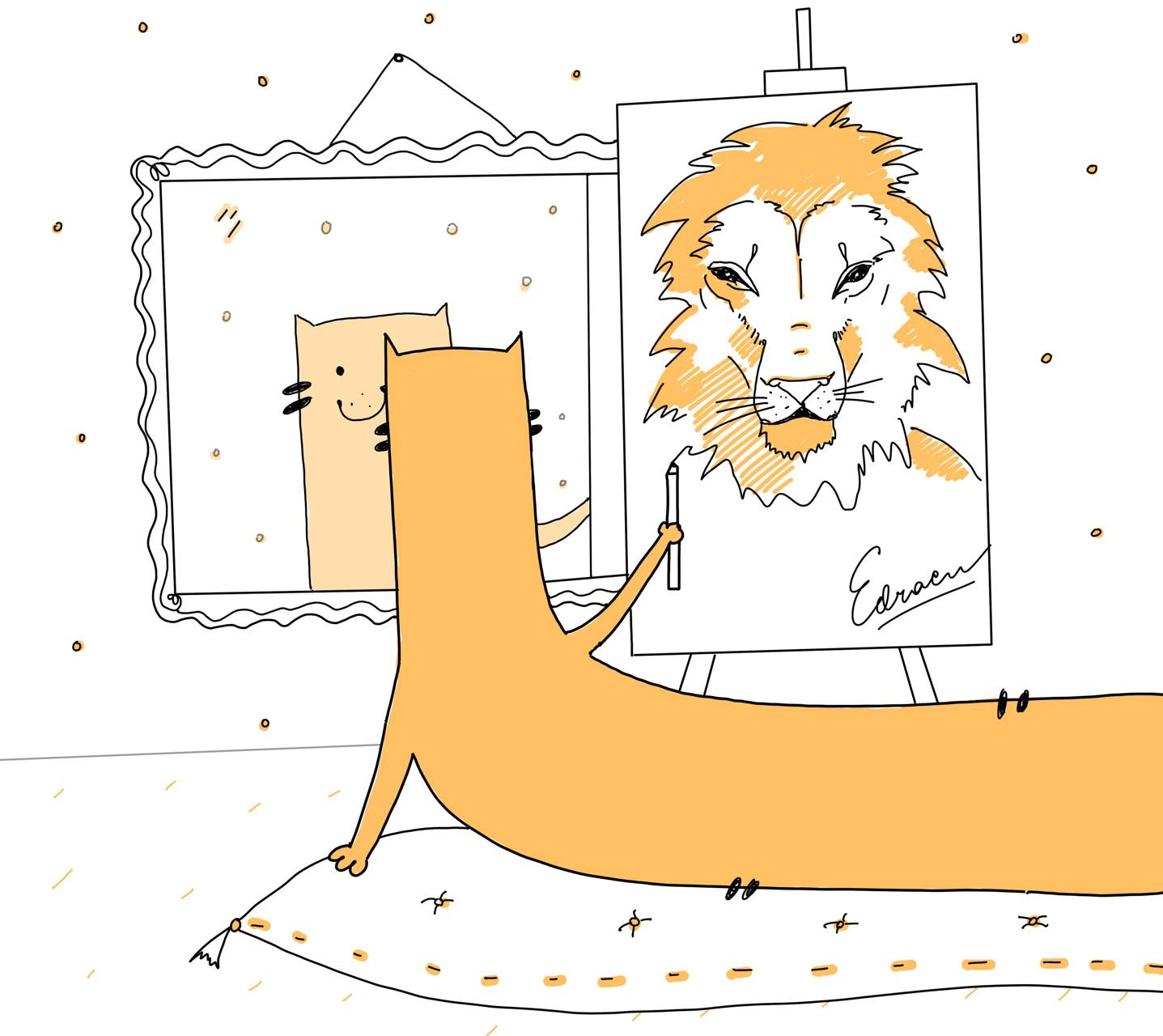 Lion inside Edrac