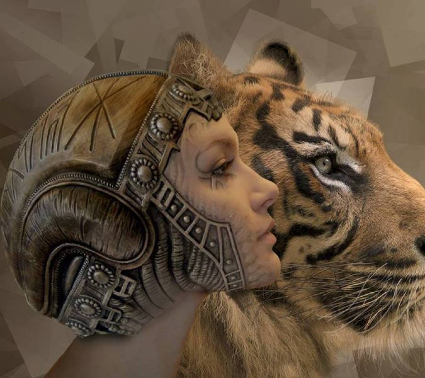 tiger and lady