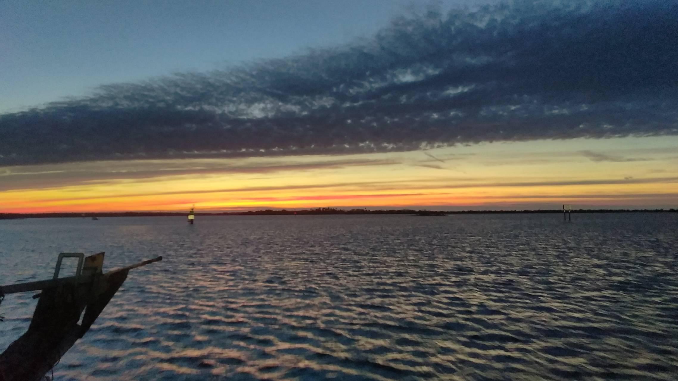 Sun set in the Gulf
