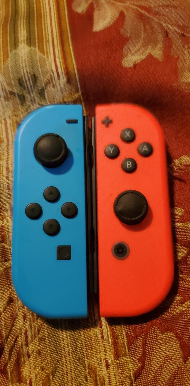 Neon Red and Blue