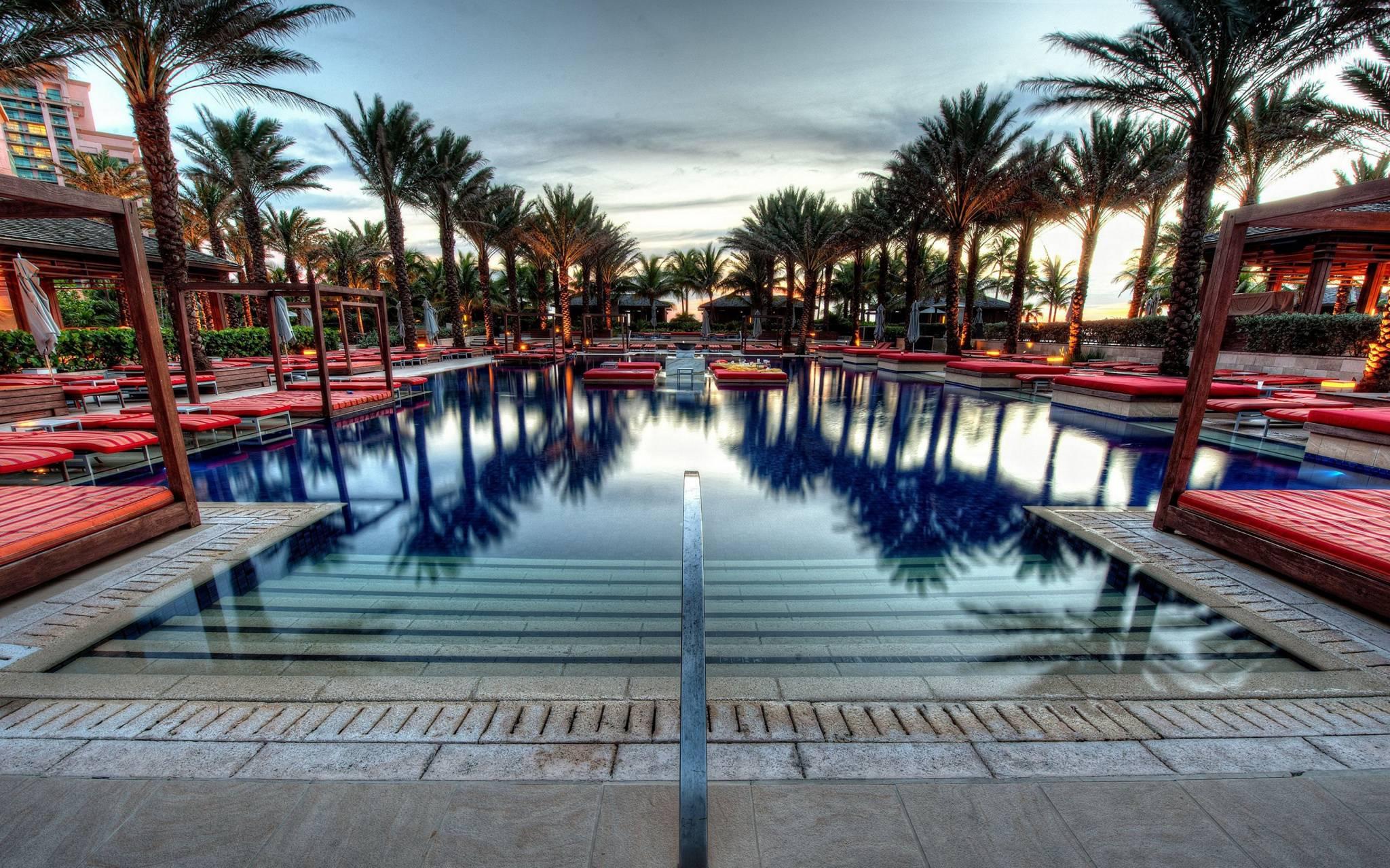 At Morning Pool