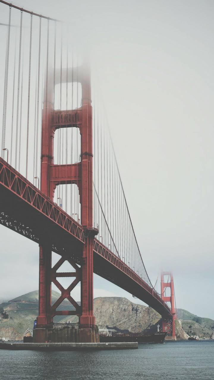 Wallpaper red bridge