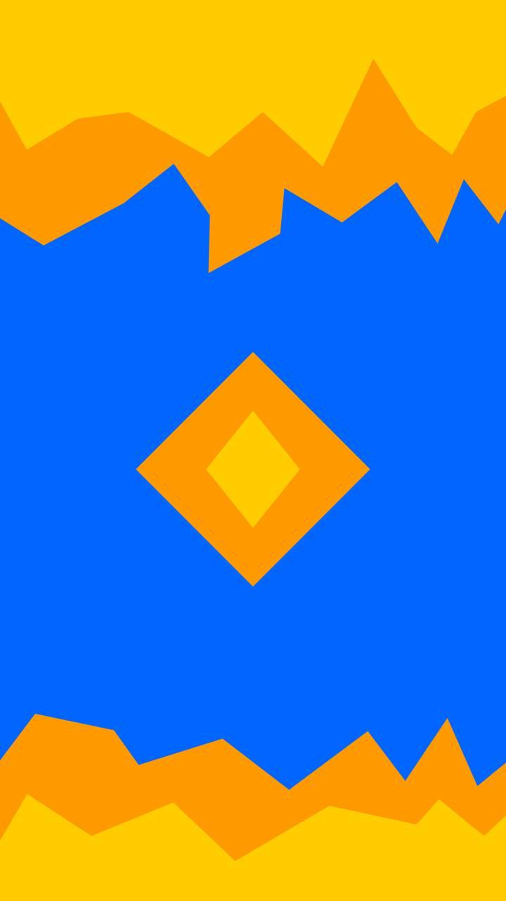 Orange in Blue