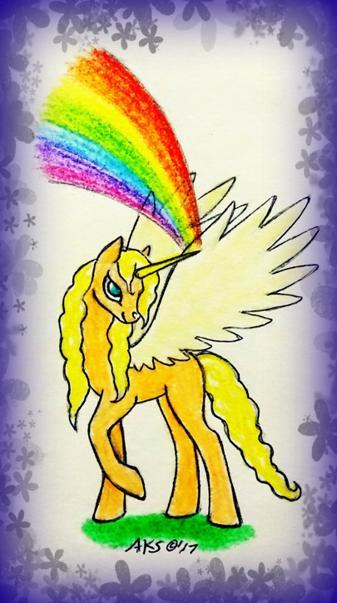 Rainbow Alicorn Art