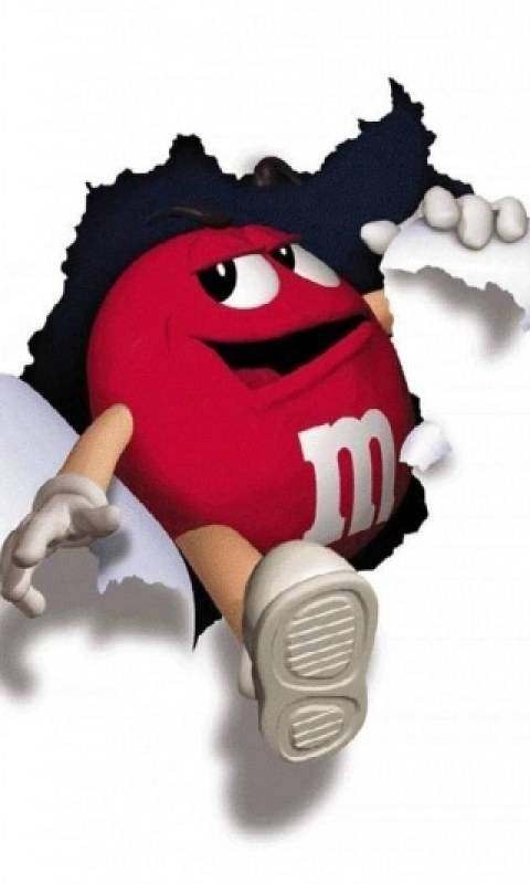 Red M And  M