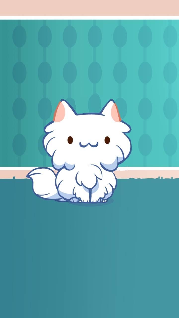 Fluffy white Persian