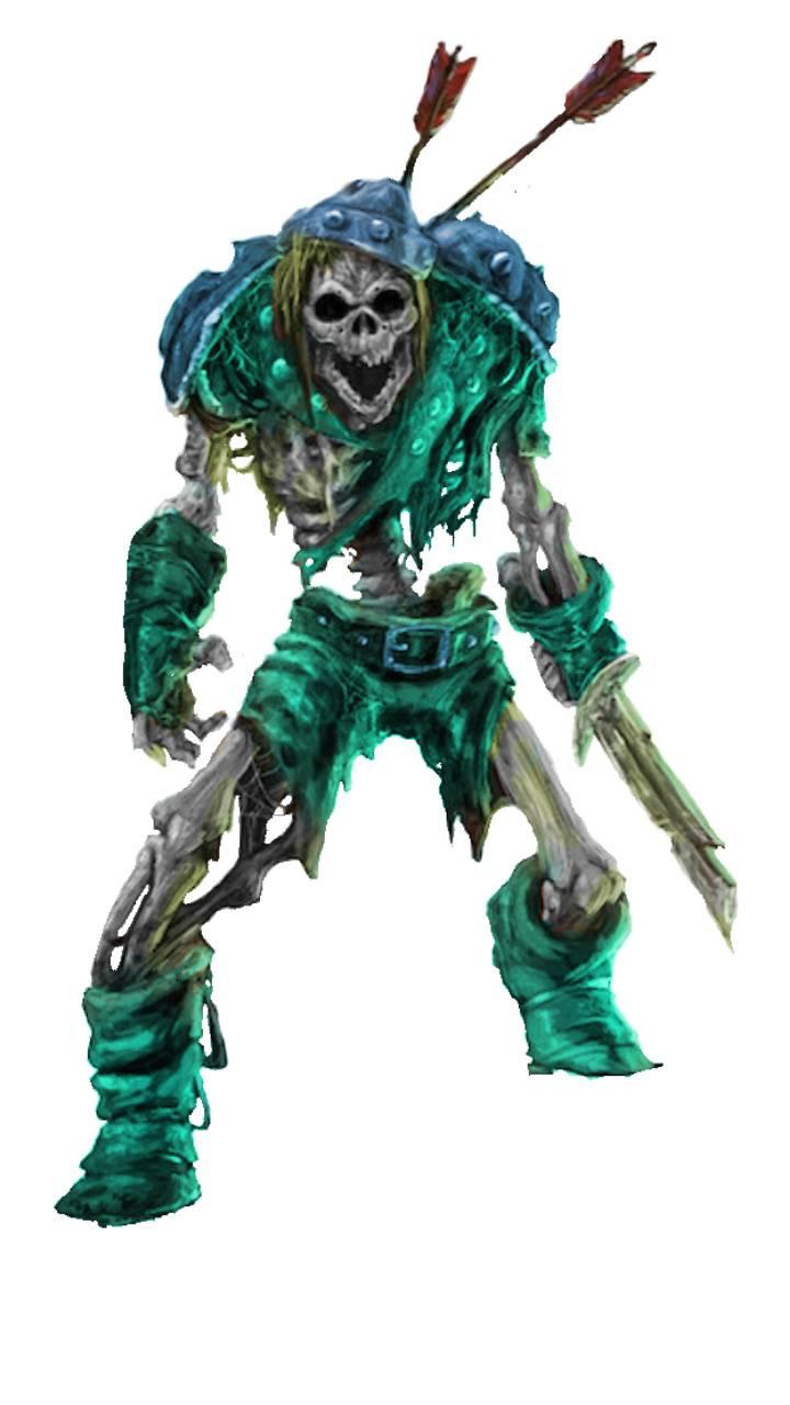 Underwater skeleton